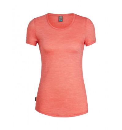 Tee shirt ICEBREAKER Cool-Lite Sphere Ss Low Crewe (ember/snow/stripe) femme