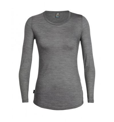 t shirt Sphere Ls Low Crewe Icebreaker (panther/snow/stripe) femme