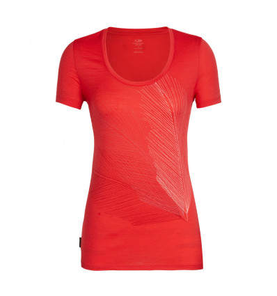 T shirt Wmns Tech Lite Ss Scoop plume Icebreaker (Amber)