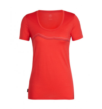 T-shirt Wmns Tech Lite Ss Scoop Rangitoto Triple Icebreaker (ember) femme
