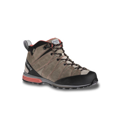 Chaussures Dolomite Diagonal Pro Mid GTX W Shoe Mud Grey/coral Red (femme)
