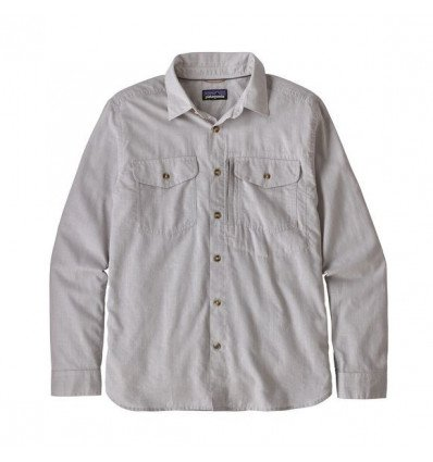 Chemise Ms L/s Cayo Largo II Shirt Patagonia (Chambray: Feather Grey) homme
