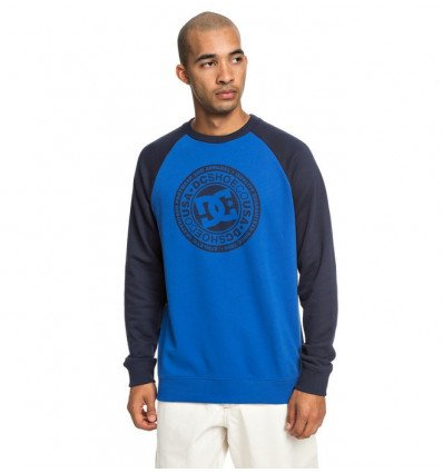 Sweat Circle Star Crew Raglan DC Shoes (noir Iris/ Bleu)