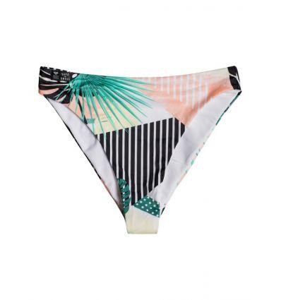 Bas bikini Pop Surf Reg High Leg Bottom Roxy (True Black Crazy Vic)