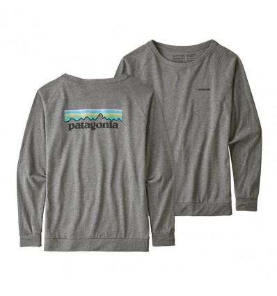 T-shirt manches longues L/s Pastel P-6 Logo Responsibili-tee Patagonia (Gravel Heather) femme