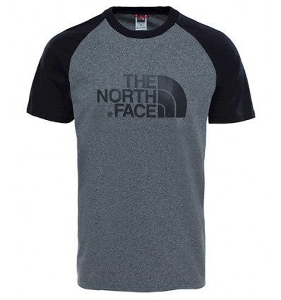 T-shirt RAGLAN EASY The North Face (midnight grey heather) homme