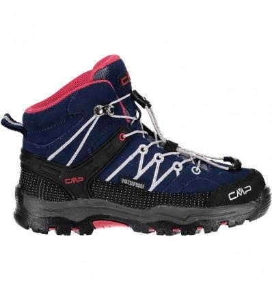 Chaussures KIDS RIGEL MID TREKKING SHOES WP CMP (Marine Corallo) enfant