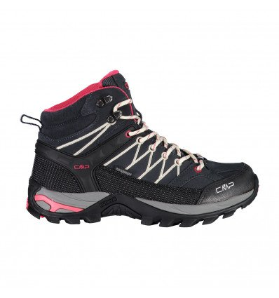 Chaussures RIGEL MID TREKKING SHOES WP (Antacite Off White) femme