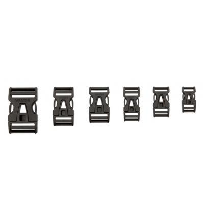 Boucle enfichable Steckschnalle 25 Mm Single Adjust (Black)