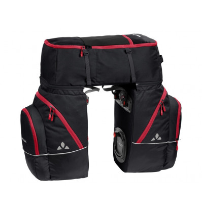 Sacoche pour vélo Karakorum - Vaude (black red)