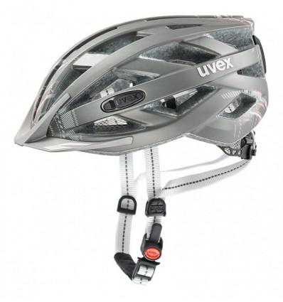 Casque de vélo Uvex City I-vo (Light grey Mat)