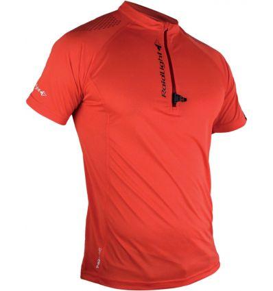 T-shirt Raidlight Activ Run Ss Shirt Mid Zip (rouge)