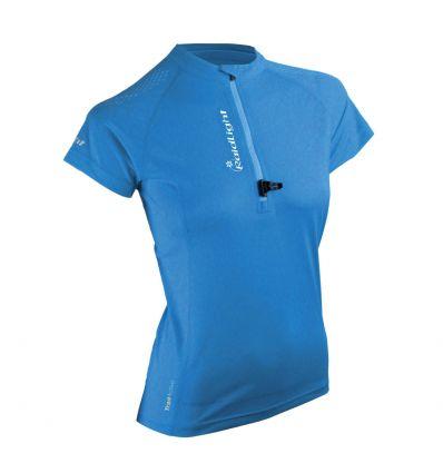 Raidlight maillot Activ Run Ss Shirt Mid Zip W (bleu) femme