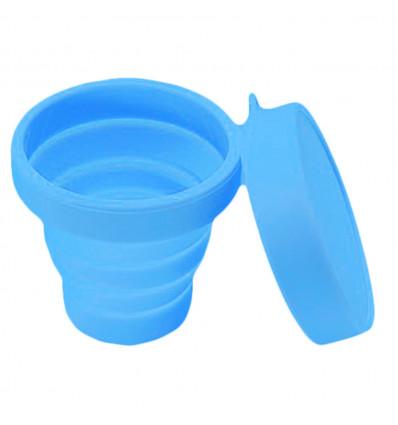 Verre pliant avec couvercle Frendo - Bleu
