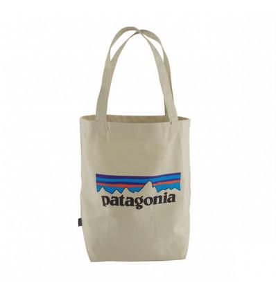 Sac Patagonia Tote bag P6 Logo (Bleached Stone)