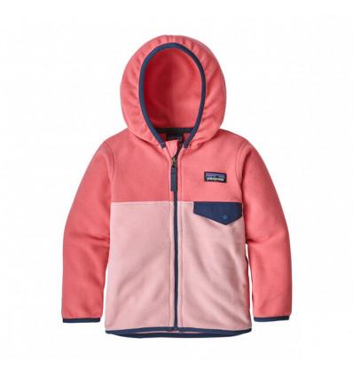 Veste bébé Patagonia Micro D Snap-t (Rosebud pink)