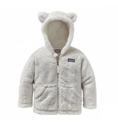 Polaire bébé Patagonia Furry Friends Hoody (birch White)