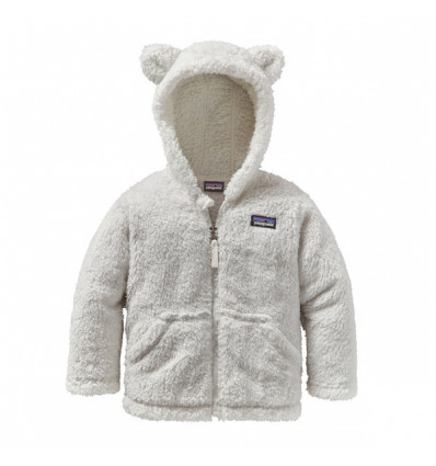 Polaire Patagonia Furry Friends Hoody (birch White) enfant