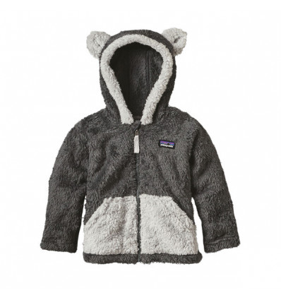 Polaire bébé Patagonia Furry Friends Hoody (Forge Grey)