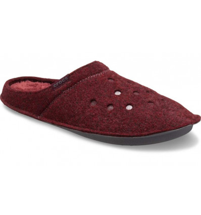 Crocs Classic Slipper (Burgundy/Burgundy)