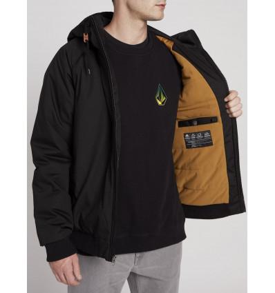 Streetwear VOLCOM Mens Hernan 5K Jacket Coat Black Winter Wear