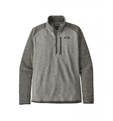 Pull-over homme Better Sweater 1/4 Zip Patagonia (Nickel w/Forge Grey)
