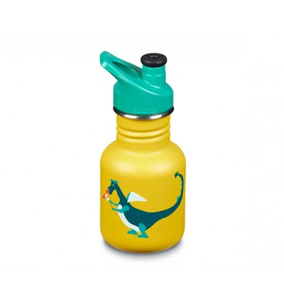 BouteilleKlean Kanteen 12 oz Kid OCEAN Sport Cap 355 ml (dragon snack / yellow) enfant