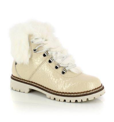 Chaussure hiver Kimberfeel Astana (Croco Creme) femme