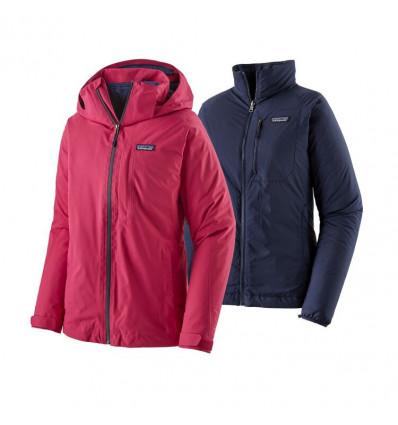 Veste de ski polyvalente Patagonia 3-en-1 Snowbelle (Craft Pink) femme