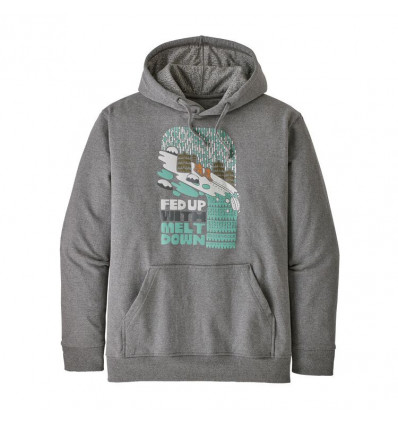 Sweat à capuche Patagonia Fed Up With Melt Down (Gravel Heather) homme