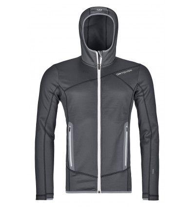 Ortovox Fleece Hoody (Black Steel)