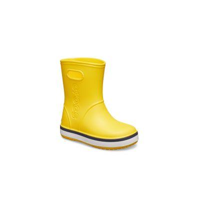 CROCS Kids' Crocband™ Rain Boot (Yellow/navy)