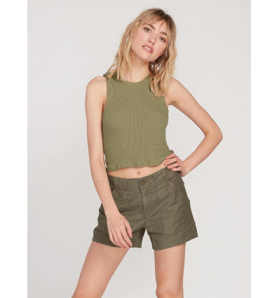 Short VOLCOM ARMY WHALER (vert camouflage) Femme