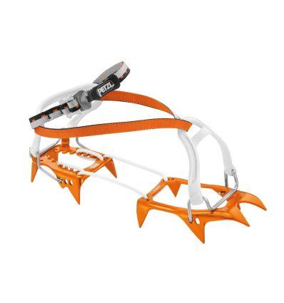 PETZL Crampons LEOPARD FL (orange/gris)