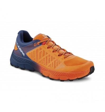 Chaussure de trail Spin Ultra Scarpa (Orange fluo-galaxy blue) Homme