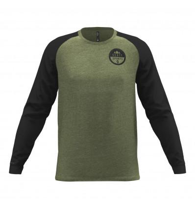 T-shirt à manches longues Scott 10 Casual Raglan (Green Moss Melange/black)