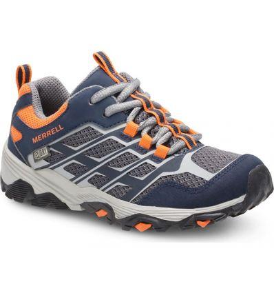 Chaussures de randonnée Merrell M-moab Fst M Waterproof (Navy/grey/orange) enfant