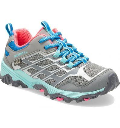 Chaussures de randonnée Merrell M-moab Fst M Waterproof (Grey/Turq/Pink) enfant