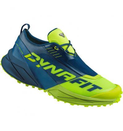 Dynafit Ultra 100 trail shoe (Poseidon/Fluo Yellow)