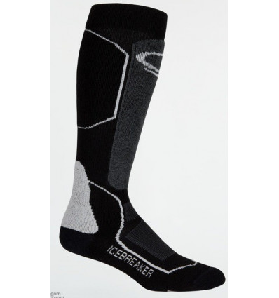 Icebreaker Mens Ski+ Medium Otc (black/oil/silver)