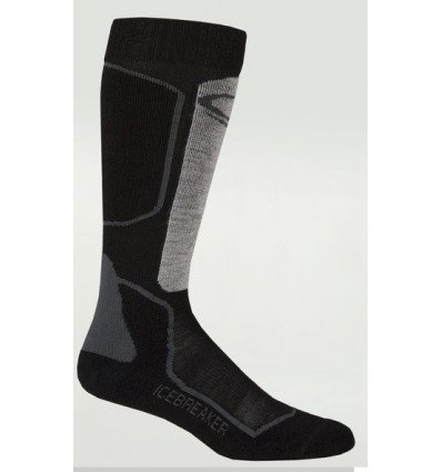 Icebreaker Socks Ski+ Lite Otc W Oil/black/silver (oil/black/silver)