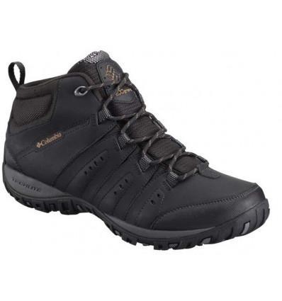 Chaussures Columbia Woodburn II Chukka Omni-Heat (black/goldenrod) homme
