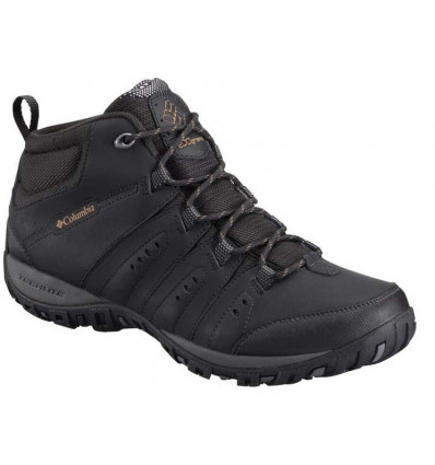 Zapatos impermeables Columbia Woodburn II Chukka Omni Heat (negrogoldenrod)