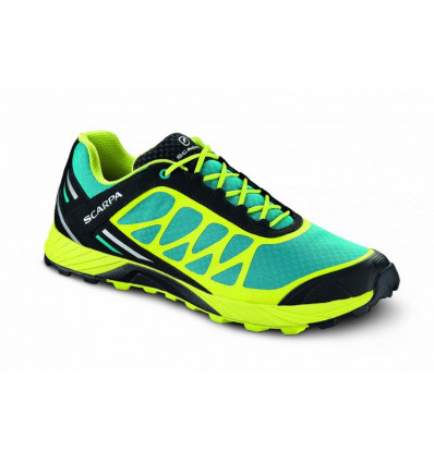 Chaussure trail Scarpa Atom abyss lime