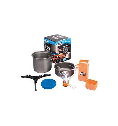 Combo réchaud + set casseroles 360 ° degrees