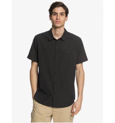 Short sleeve Quicksilver Tech Tides Short Sleeve Shirt (Black) Man - AlpinStore