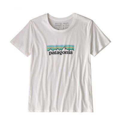 T-shirt Patagonia Pastel P-6 Logo Organic Crew (White) femme