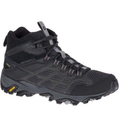 Chaussures de randonnée Merrell Moab Fst 2 Mid Gore-tex(Noir) Femme
