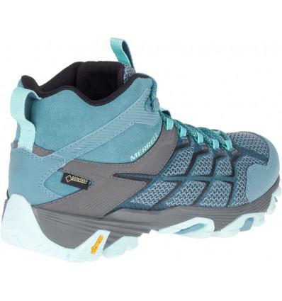 Chaussures de randonnée Merrell Moab Fst 2 Mid Gore-tex(Fumée Bleue) Femme