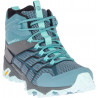 Chaussures de randonnée Merrell Moab Fst 2 Mid Gore-tex(Rock/Bleu) Femme
